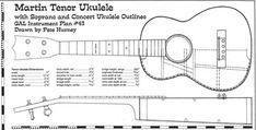 concert size ukulele body template in pdf format musical instruments plans ukulele guitar. Black Bedroom Furniture Sets. Home Design Ideas