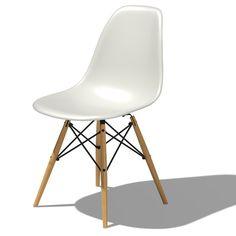 Herman Miller ® Eames DSW - Molded Plastic Side Chair with Dowel-Leg Base $400