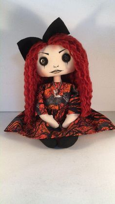 Gothic Horror, Gothic Art, Gothic Dolls, Make And Sell, Art Dolls, Art Decor, Doll Clothes, Disney Characters, Fictional Characters