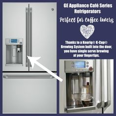 #ad A Keurig in the refrigetor? Yeah, that's cool! Find Your Happy In The Kitchen With New GE Café Series Appliances | In The Kitchen With KP