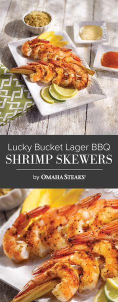 Lager. BBQ. Shrimp. The perfect combination.