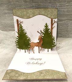 Elegant Holiday Pop Up Card