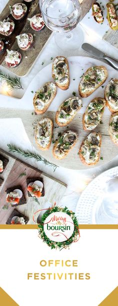 Here's a to-do list for enjoying your office holiday party with colleagues: File your papers away and turn off the photocopier Start the festivities at sharp Prepare tasty appetizers with Boursin Yummy Appetizers, Appetizers For Party, Appetizer Recipes, Snack Recipes, Cooking Recipes, Dips, Boursin, Snacks Sains, Happy Kitchen