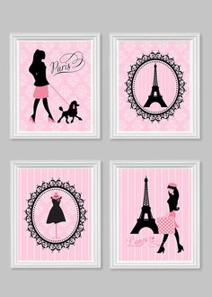 Paris Wall Decor Parisian Art Prints Eiffel By SweetPeaNurseryArt