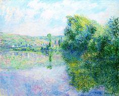 The Siene at Vetheuil via Claude Monet