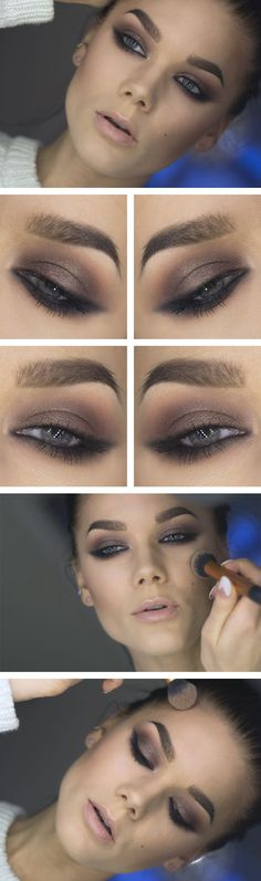 Soft liner - Brown with a soft eyeliner