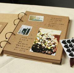 A4 álbum de fotos de anillas 56 páginas / / álbum por PapergeekCo