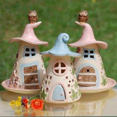 mash up - Diy and craft Polymer Clay Miniatures, Polymer Clay Projects, Polymer Clay Art, Diy Clay, Clay Crafts, Diy And Crafts, Clay Fairy House, Fairy Houses, Pottery Houses