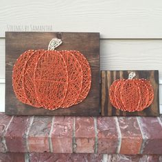 Pumpkin String Art Sign  This listing is for a string art sign measuring 11X12 or 6X7 This item is made of high quality string and is based on