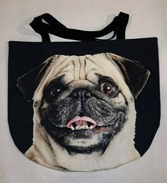 Looking for perfect Christmas present? 3D Bag with Face of Smiling Pug. – Limitless Bags UK