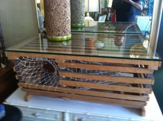 repurposed lobster trap into coffee table | lobster trap