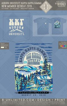 KKG retreat t-shirt Kappa Kappa Gamma, Social Events, Graphic Design, Artwork, T Shirt, Supreme T Shirt, Work Of Art, Tee Shirt, Tee