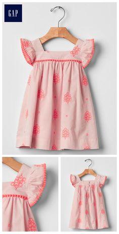 Pom-pom flutter dress