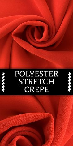 Polyester Spandex Blend Stretch Crepe in Bright Red B And J Fabrics, Textile Fabrics, Textile Art, Spandex Fabric, Polyester Spandex, Fabric Board, Different Types Of Fabric, Fabric Names, Art N Craft