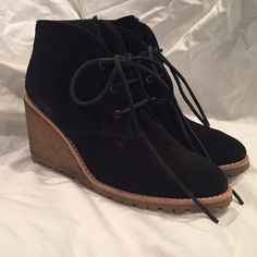 Coach Karson bootie Super cute bootie for a stylish girl that wants to stay warm! Only worn once but there's some discoloring on the heel. Coach Shoes Ankle Boots & Booties