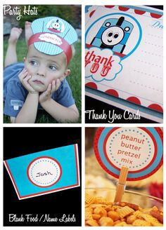 Train party printables