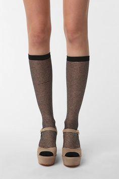 Tall Stripey Socks.