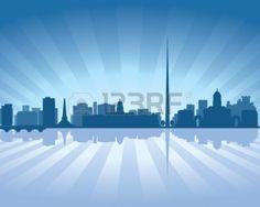 11298562-dublin-ireland-skyline-illustration-with-reflection-in-water.jpg (1350×1080)