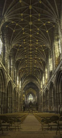Chester Cathedral, Chester, UK A remarkable cathedral with history spanning almost two thousand years.