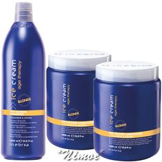 Pro-Blonde Kit Max 1 x Shampoo + 2 x Conditioner Ice Cream Age Therapy Inebrya ®