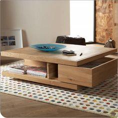 Muebleando|Mesa ratona con cajonera|muebles carpintería fabricantes y diseño