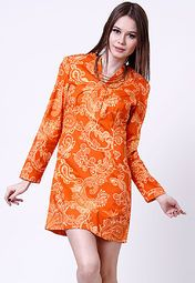 Sale Looking For Free Shipping Best Wholesale Lace Trumpet Sleeve Mini Dress - Bright orange Asos axMINa6GFi