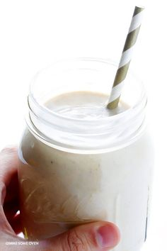 Banana Bread Smoothie -- quick and easy, protein-packed, and tastes just like the bread that inspired it! | gimmesomeoven.com