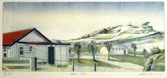 Stanley Palmer, Matiu-Somes, bamboo engraving and lithograph on 535 x 750 mm paper, from an edition of 100, 2012.