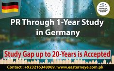 Germany PR through 1 Year study in Germany Study Gap up to 20 years is accepted. For more details call/ Whatsapp us on 📱 For Free Assessment Visit our office. 📍 Noon Avenue, New Muslim Town, Lahore Immigration To Germany, Freedom Travel, Crime Rate, Permanent Residence, List Of Countries, Investment Firms, Business Analyst, Personal Goals, Education System