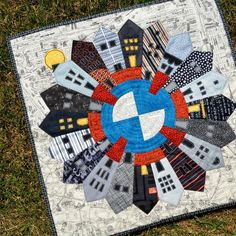 (7) Name: 'Quilting : My Dresden Village Mini Quilt
