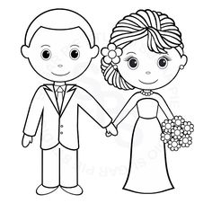 Kids Wedding Activity Book Page 02 See More Coloriage Mari Et Mariee A Imprimer Gratuit
