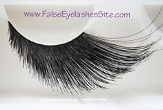 i need to find eyelashes that are short and then long at the ends. help :(