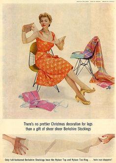 Berkshire Stockings for Christmas, 1950s.