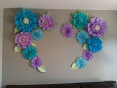3 feet by 5 feet heart shaped paper flowers and pinwheels backdrop Bathrobe 👘 👘 Large Paper Flowers, Tissue Paper Flowers, Paper Flower Wall, Paper Flower Backdrop, Giant Paper Flowers, Big Flowers, Diy Paper, Paper Crafts, Paper Flower Tutorial