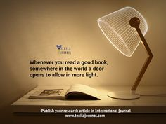 """Today a reader, Tomorrow a leader."" Publish your research paper in international Journal. Publish now @ www.texilajournal.com"
