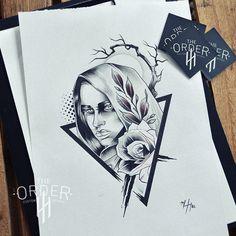Mystic Nun Drawing 1 – The Order Custom Tattoos