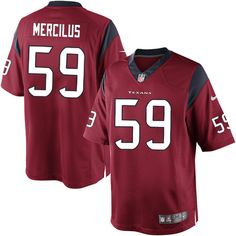 Nike Limited Mens Houston Texans http://#59 Whitney Mercilus Alternate Red NFL Jersey$89.99