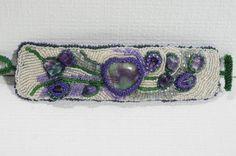 Beadwork Bracelet Seed Beads Embroidery Bracelet by Trendydeals, $130.00