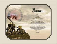 Personalized Gift for Marine Recruit  Keepsake and Remembrance | Creationsbyfrannie - Print on ArtFire