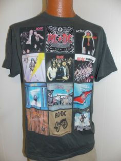 de157cf3d5f AC DC ACDC ALBUM RECORD COVERS Mens T Shirt Size L  other  BasicTee