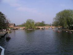 The River Avon flows by the Royal Shakespeare Theatre in Stratford-upon-Avon