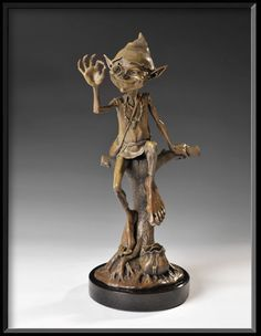"""Tooth Fairy"" - bronze sculpture by David Goode; Steel Sculpture, Sculpture Art, Garden Sculptures, Metal Sculptures, Abstract Sculpture, Forest Creatures, Magical Creatures, Fantasy Figures, Fantasy Art"