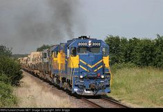 FWWR 2003   Description:    Photo Date:  5/26/2006  Location:  Watson, TX   Author:  John Briggs  Categories:    Locomotives:  FWWR 2003(GP38-3)