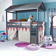 Lit Cabane Xcm Woody Wood Tooo Cool Be INSPIRED KiDs RooM - Lit cabane woody wood alinea