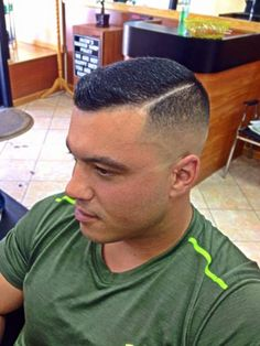 Handsomely clean-cut with a side part