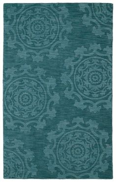 Amazon.com : Kaleen Rugs Imprints Classic Hand-Tufted Area Rug, Turquoise, 5' x 8' : Home And Garden Products : Patio, Lawn & Garden