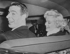 Marilyn on her wedding day with Joe DiMaggio, 14 January 1954.