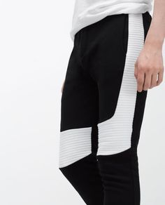 Imagen 4 de PANTALÓN CON ENCAJE de Zara Zara, Gym Men, Fashion, Lace, Pants, Men, Moda, Fashion Styles, Fashion Illustrations