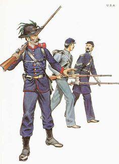 ACW Union: 1. Private 39th New York Volunteers (Garibaldi Guard), 2. Private 1st Mass. Militia,. 3. Corporal Vermont Brigade, by Michael Chappell.