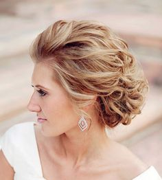 Formal wedding up-do for short medium hair